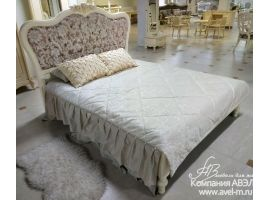 Милано Кровать сп.м 160*200 с низким изножьем, изголовье - ткань  фабрика M&K Furniture, Китай